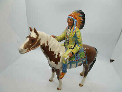 Beswick Indian Chief Riding  On His Pinto Pony, Made In England • 256.01£