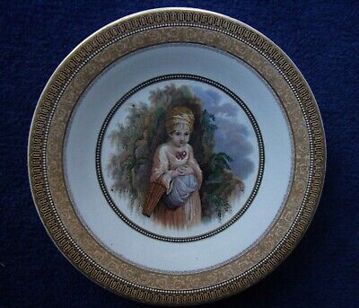 Prattware Pot Lid Style Plate The Strawberry Girl Good Example • 11.99£