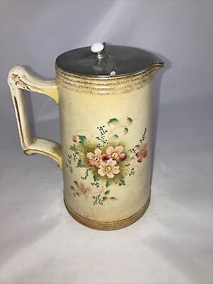 Crown Pottery Longton  Wild Rose Covered Jug • 7.99£