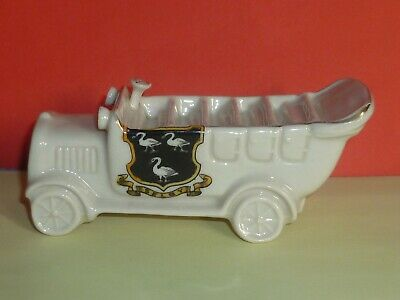 Carlton Crested China Model Of 15 Seater Charabanc DN999. Crest Of Selby • 12.50£