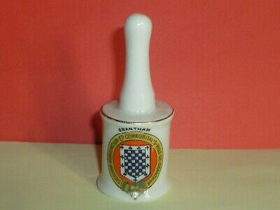 Arcadian Crested China Model Of German Hand Grenade. Crest Of Grantham A/F • 3£