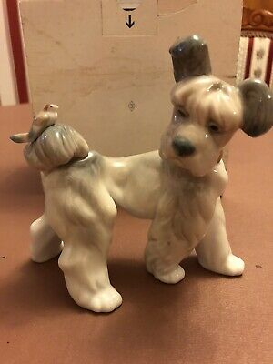 """RARE LLADRO Terrier Dog With Bird On Tail """"Unexpected Visit"""" (6829) In VGC • 34£"""