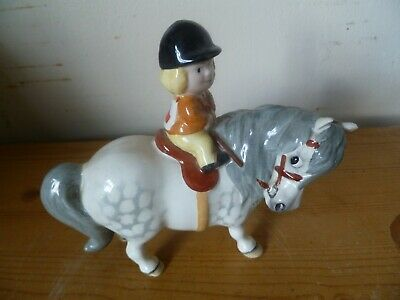 Beswick Thelwell Learner Rider (Girl On Grey)Norman Thelwell C 1981 • 20£