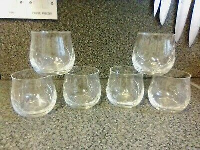 Set Of 6 Vintage Cut Glass Tumblers 8cm Tall • 6£