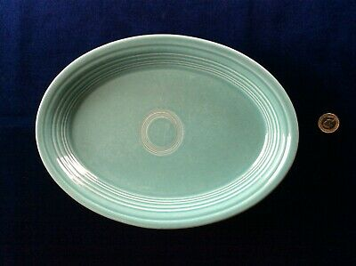 Fiestaware Homer Laughlin China Co. USA Turquoise Oval Platter • 9£