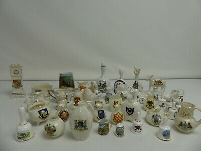 (ref288AE) Huge Collection Of Crested Ware 43 Pieces • 39.99£