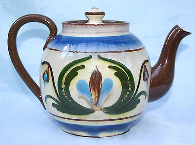 Vintage Torquay Devon Mottoware Pottery Teapot  Wull'ee Ave A Cup To Cheer'ee Up • 15.99£