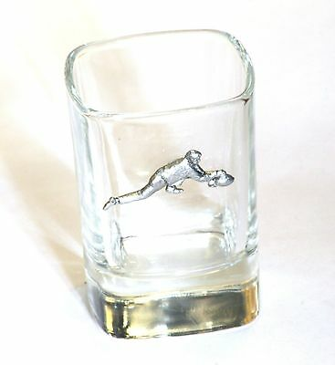Curler Pewter Emblem  Crystal Shot Tot  Glass Ideal  Present Gift Award 94 • 49.99£