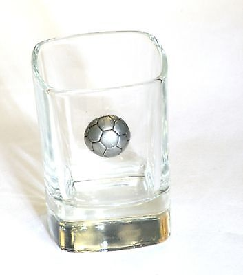 Football Pewter Design Crystal Shot Tot Glass Ideal Gift  Award Present  • 49.99£