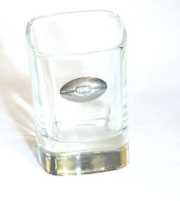 Rugby Ball American Football Pewter Emblem Crystal Shot Tot Glass Ideal Gift 305 • 49.99£