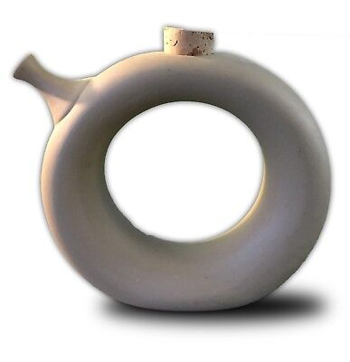 Gray Bisque Ring Jug Art Pottery • 25.04£