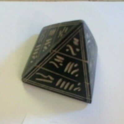 2.5 Inches Tall Egyptian Pyramid Ornament Paperweight  Cc97 • 2.95£