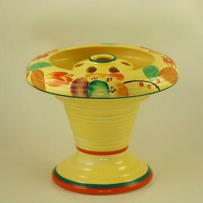 Art Deco Crown Ducal Vase With Frog Rare Floral Posy Holder Superb Conditon • 79£