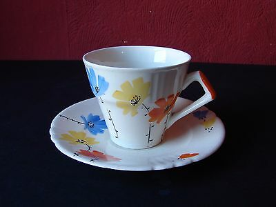 Myott Son & Co. Hand Painted Cup And Saucer 1076 • 15£