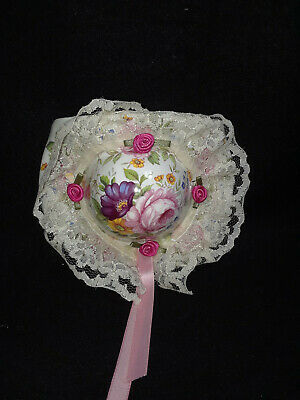 Sunhat Floral With Lace Trim Wall Pocket Fenton China • 19.34£