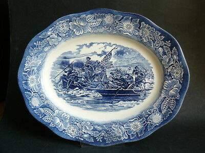 Vintage Wedgwood & Co Staffordshire Liberty Blue China 14  Oval Serving Platter • 49.50£