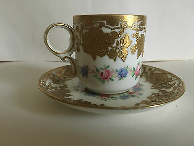 Superb Hammersley & Co. Demitasse Cup And Saucer For Ovington Bros. New York. • 25£