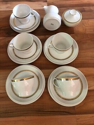 Rare Thomas China Silver & Gold Band Teaset • 44.99£