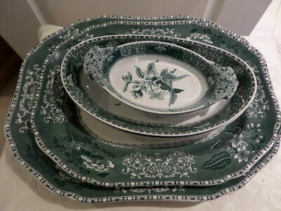 SPODE GREEN CAMILLA COLLECTION OF SERVING PLATES -available Separately - C.1833M • 10£