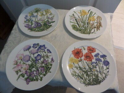 ROYAL DOULTON NATURE'S OWN BEAUTIES COLLECTORS PLATES X 4 LIMITED EDITION • 20£