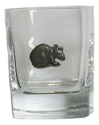 Mouse Pair Of Crystal Tumblers Pewter Motift Presentation Box 434 • 34.99£