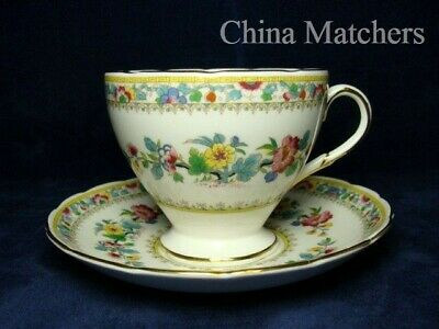 Foley Ming Rose Tea Cup & Saucer In Very Good Condition • 11.50£