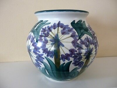 Iden Pottery, Rye. Dennis Townsend. Large Vase With Painted Agapanthus Design • 45£