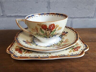 Crown Ducal USA PAT 72944 Vintage Trio - Cup Saucer & Plate • 9.99£