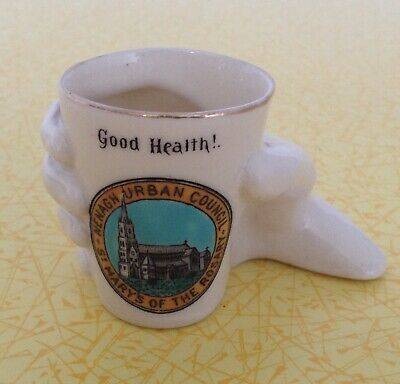 Goss & Crested China Hand & Glass Nenagh Urban Council St Mary's Of The Rosary • 3.50£