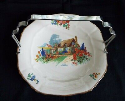 Alfred Meakin 'a Bit Of Old England' Biscuit/cake Plate With Handle • 6.50£