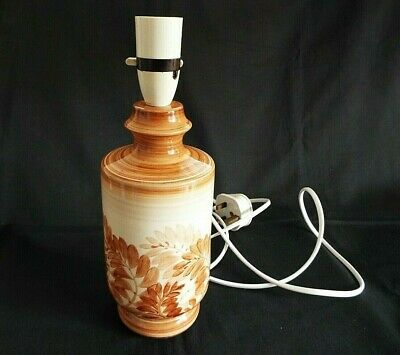 Jersey Pottery Hand Painted 10.1/2  Lamp Base • 6.50£