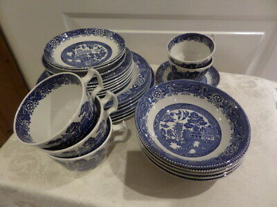 WOODS WARE  WILLOW PATTERN - WOOD & SONS - BLUE And WHITE - Choice Of Items • 7£