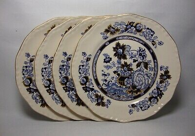 4 X MASONS SAPPHIRE 6 3/4  SIDE / TEA PLATES IN EXCELLENT CONDITION • 19.50£