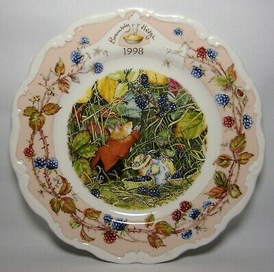 Royal Doulton Brambly Hedge Year ~ 1998 8  Plate In Excellent Condition • 38.50£