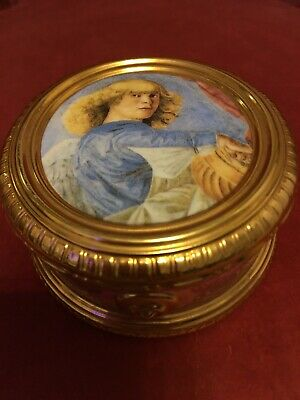 The Franklin Mint Porcelain Angels Of The Vatican Misic Box Aria From The Messia • 26£