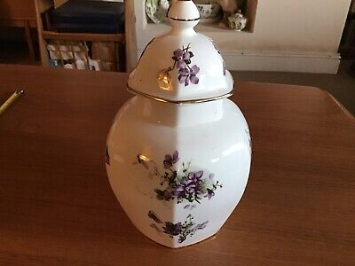 Hammersley 9in Victorian Violets Ginger Jar Perfect • 16£