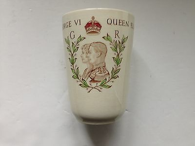 Rare Wedgwood Commemorative Beaker For George V's 1937 Coronation • 25£