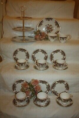 Lovely Colclough Tea Set  Royale  Imari Inc 3 Tier Cake Stand Immaculate 24 • 30£