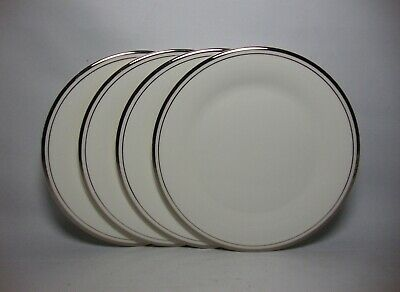 4 X ROYAL DOULTON PLATINUM CONCORD 6 5/8  SIDE / TEA PLATES IN V/G CONDITION • 16.50£