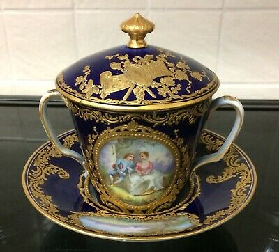 Sevres Chocolate Cup And Saucer  • 325£