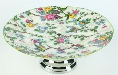 Vintage Royal Tudor Ware Lorna Doone Cake Plate Stand, Chintz Pattern • 18£