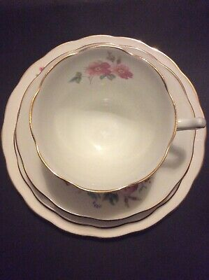 China Tea Cup & Saucer & Two Side Plates - Coalport Bone China - Junetime Design • 5.30£