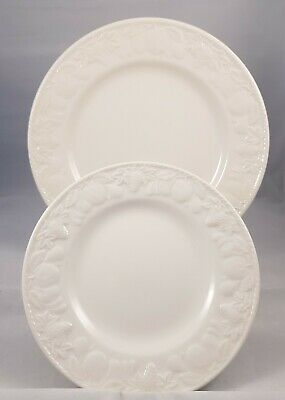 BHS Lincoln Glossy Off White Dinner Plate And Side Plate  • 15£