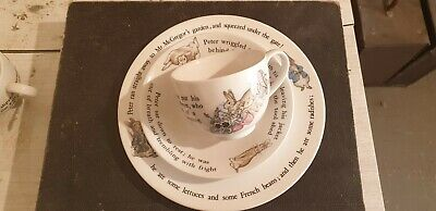Wedgewood Peter Rabbit Plate Cup And Saucer Set • 20£
