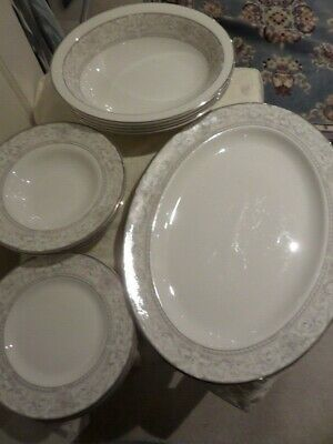 ROYAL DOULTON - NAPLES PLATINUM - Collection Of Dinnerware, Available Separately • 8£