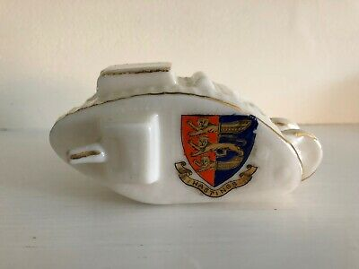 Crested China WW1 Tank HASTINGS CREST • 19.99£
