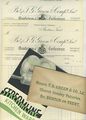 Mini TG Green Cornishware Archive - 4 Original Items Streamline Catalogue Letter • 5£
