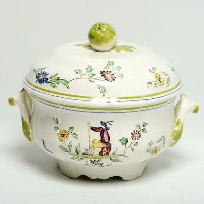 Longchamps French Faience Covered Floral Tureen • 92£