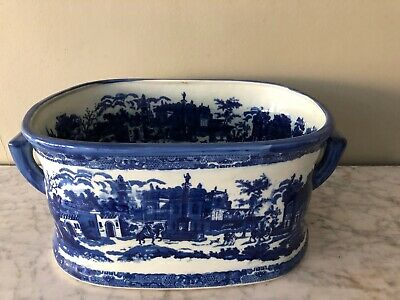 Large Blue & White Victoria Ware Foot Bath / Planter  • 60£