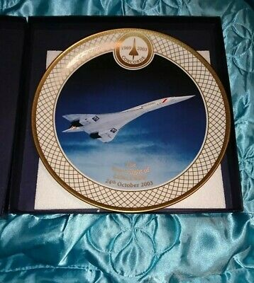 Royal Worcester Plate The Flight Of Concorde • 15£